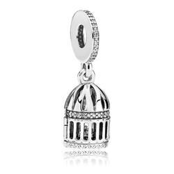 2018 новый 100% стерлингового серебра 925 Прекрасный свободный как птица Красивая Подвеска бусина-подвеска для европейской матери подарок