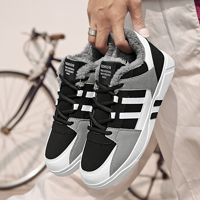 New Arrival Winter Sneakers Men Classic Skateboard Shoes Man Keep Warm Comfortable Flat Shoe Trainer Leisure Fitness Sport Shoes