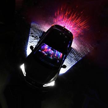 Car Projector Laser welcome door Rear fog Brake Turn Signal License plate meteor light decorative Atmosphere lamp