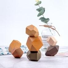Новейший детский деревянный цветной камень jinga строительный
