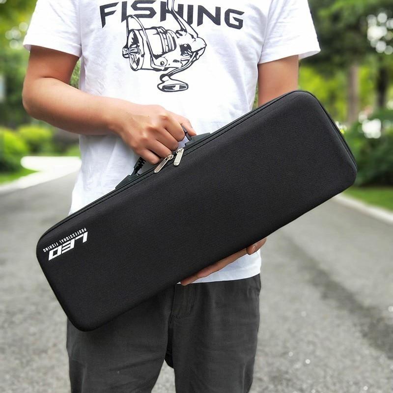 Accessoires de pêche boîte à matériel EVA coquille dure doublure souple pôle stockage paquet grande capacité multi usages Portable outils sac - 5