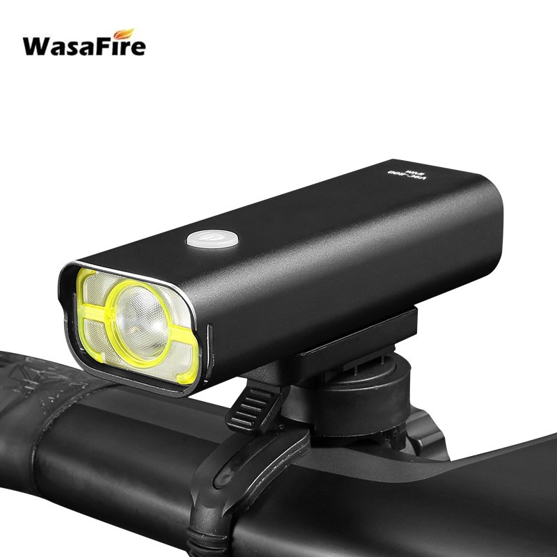 WasaFire XPG-2 LED Bike Light 500 Lumens USB Rechargeable Bicycle Front Lights 5 Modes IPX3 Waterproof Night Cycling Flashlight