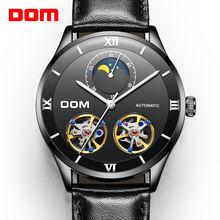 Dom мужские часы модный дизайн скелетоны спортивные механические
