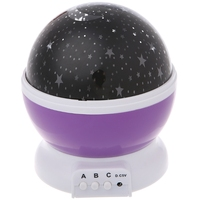 Starry Sky LED Rotation Night Light Projector Star Moon Novelty Table Night Lamp