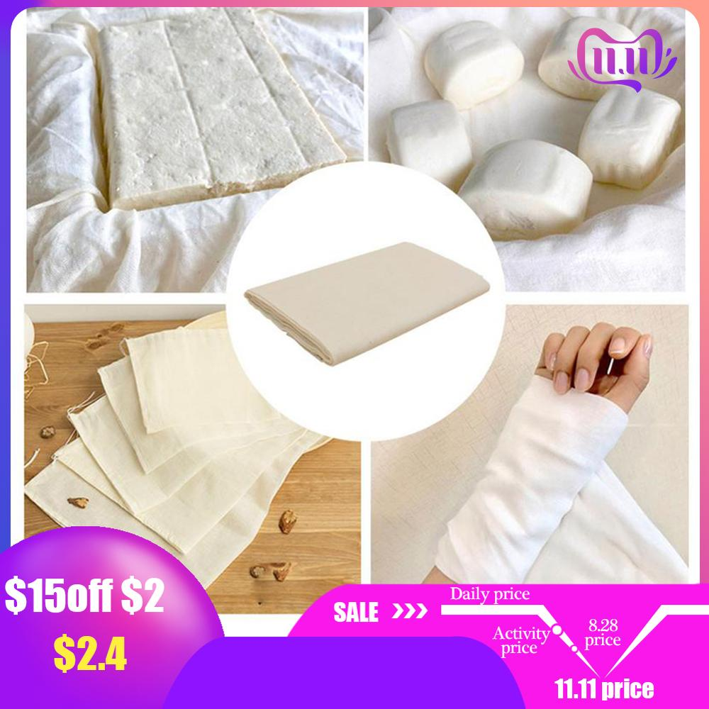 Cheese Cloth 40s Natural Ultra Fine Cotton Filter Gauze Cheese Cloth Kitchen Cleaning Filter Car Dusting Perfume Bag Wine Making