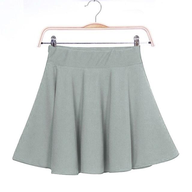 New New Women Skirt Sexy Mini Short Skirt Fall Skirts Womens Stretch High Waist Pleated Tutu Skirt SCI88 2