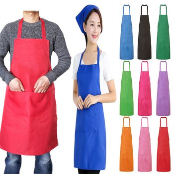 Colorful Cooking Apron Thicken Cotton Sleeveless Chef Clothes Bib Anti-wear Kitchen Salon Bake Universal Apron Household Tool 1