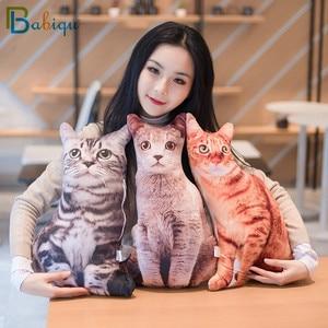 Image 4 - 1pc 50cm Simulation Plush Cat Sleeping Pillows Soft Stuffed Animals Cushion Sofa Decor Cartoon Plush Toys for Children Kids Gift