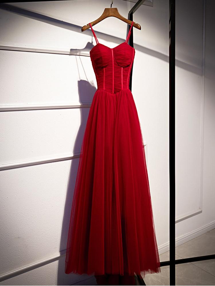 Sweetheart Evening Dresses Long Floor Length Party Gown Formal For Women A-line Evening Dress Long Dress Robe De Soiree 2020