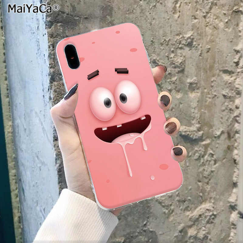 MaiYaCa Funny cartoon expression Smart Cover Black Shell Phone Case for Apple iphone 11 pro 8 7 66S Plus X XS MAX 5S SE XR