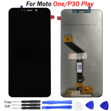 Original For Moto P30 Play LCD Display Touch Screen Digitizer P30 Play Screen For Motorola One LCD One Power Display Replacement цена 2017