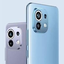 Caméra arrière Len protéger la couverture de Protection pour Xiaomi Mi 11 Mi11 aluminium métal verre trempé caméra Protection d'écran
