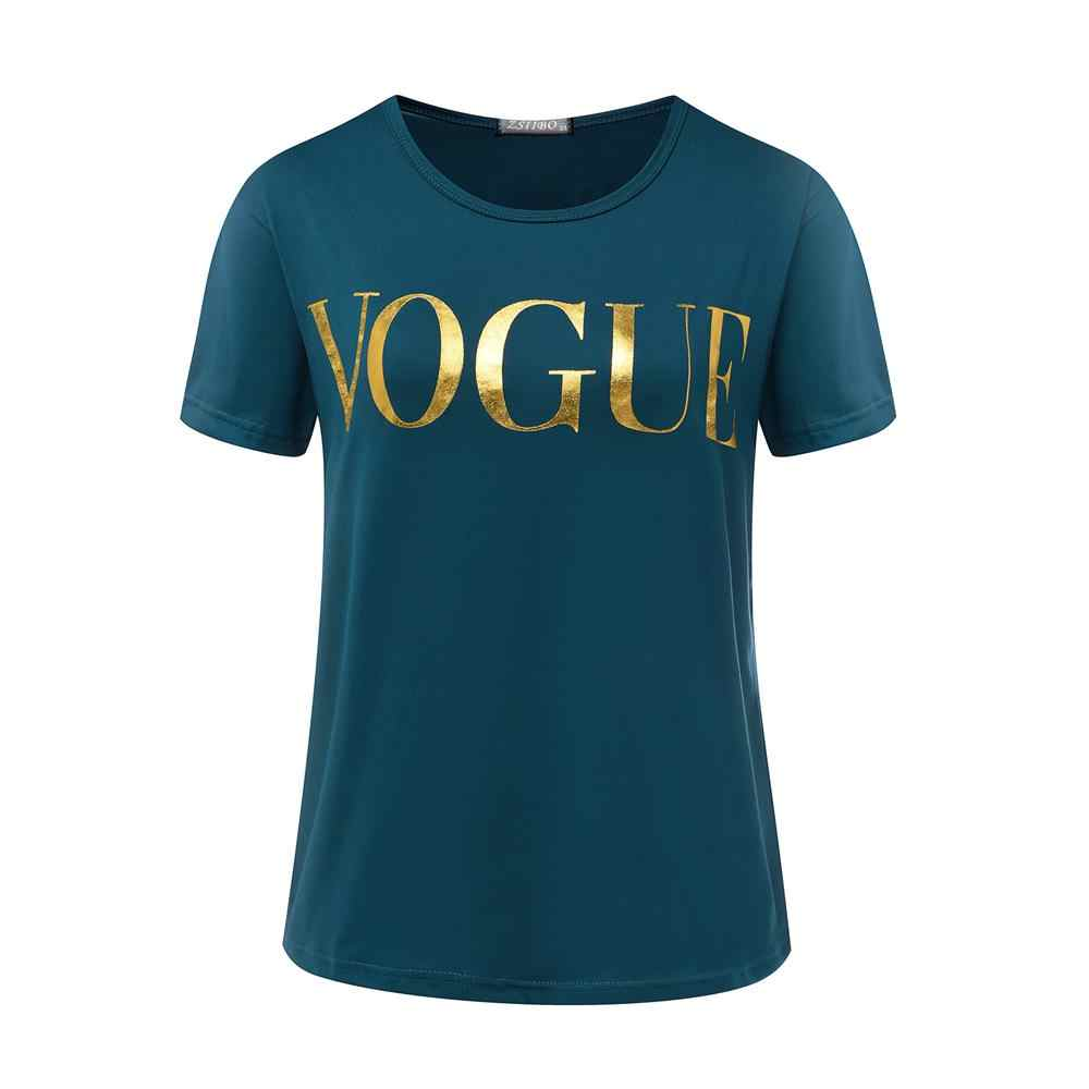 Harajuku Summer T-Shirt Women New Arrivals Fashion VOGUE Printed Tshirt Woman Tee Tops Casual Female T shirts Plus Size S-XL