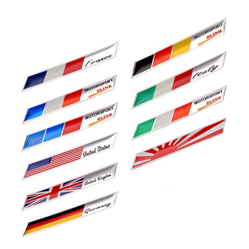 Car//Motorcycle Decal France Flag Decor Sticker 3D Aluminum Emblem Badge Logo