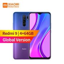 Küresel sürüm Xiaomi Redmi 9 4GB RAM 64GB ROM cep telefonu Helio G80 13MP + 8MP kamera 6.53 inç ekran 5020mAh akıllı telefon