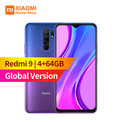 Global Version Xiaomi Redmi 9 4GB RAM 64GB ROM  Mobile Phone Helio G80 13MP+8MP Camera 6.53 inch Display 5020mAh Smartphone