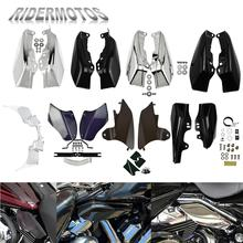 Motorcycle Mid Frame Air Deflector Heat Shield For Harley Softail Dyna Fatboy FXD Touring Street Glide Road King Electra Glide