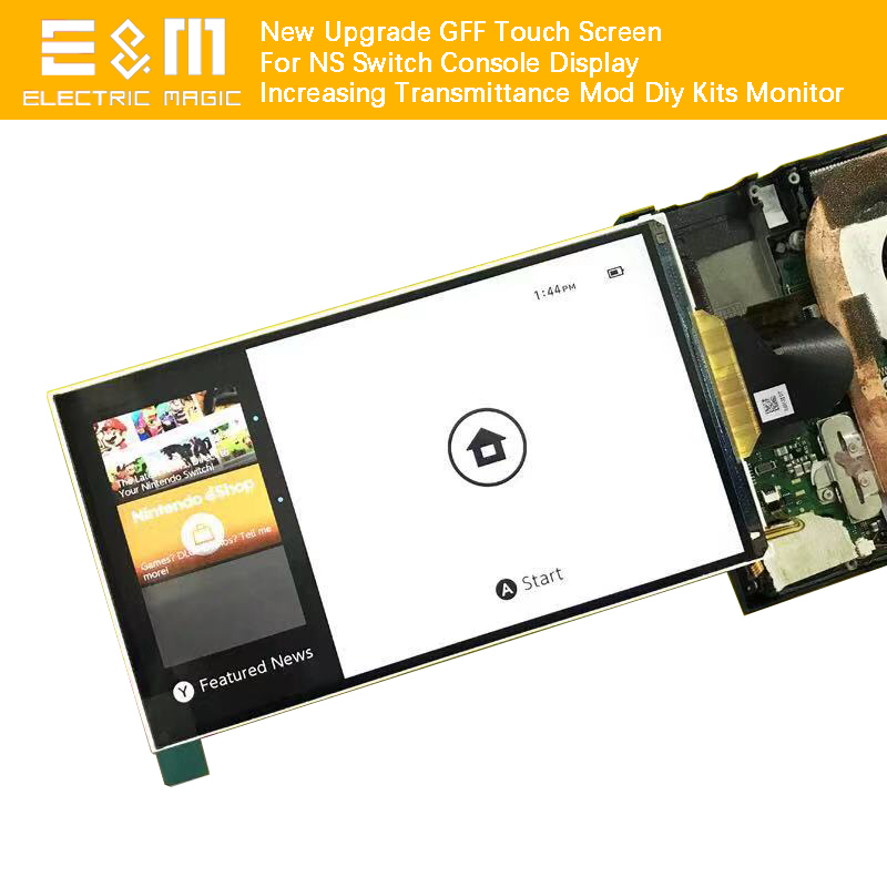 New Upgrade GFF Touch Screen For NS Nintendo Switch Console Display Increasing Transmittance Mod Diy Kits Monitor