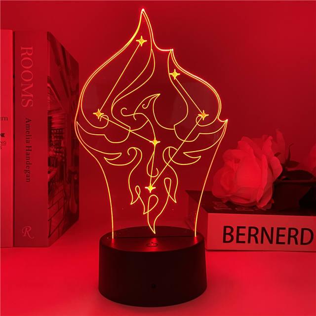 GENSHIN IMPACT THEMED 3D LED LIGHT (9 VARIAN)