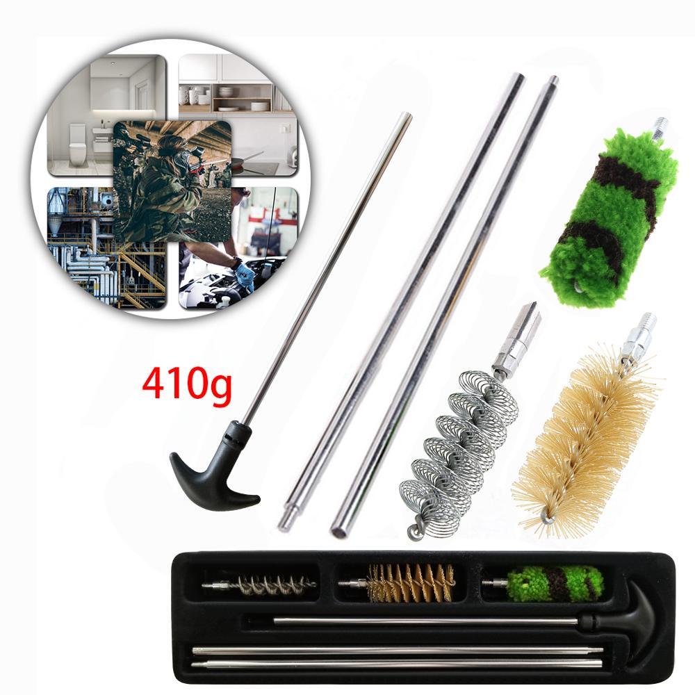 12Gauge Rifle//Shotgun 6Pcs Aluminum Rod Gun Hunting Cleaning Brush Kit 12GA