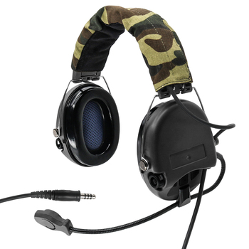 Black tactical sordin noise reduction pickup military shooting walkie talkie headset sordin tactical headset
