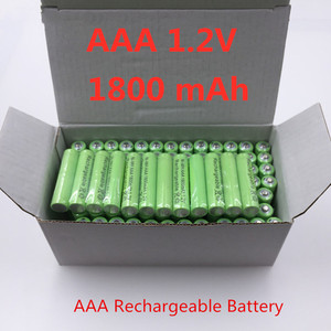 4~20PCS 100% Original AAA 1800 mAh 1.2 V Quality rechargeable battery AAA 1800 mAh Ni-MH rechargeable 1.2 V 2A battery