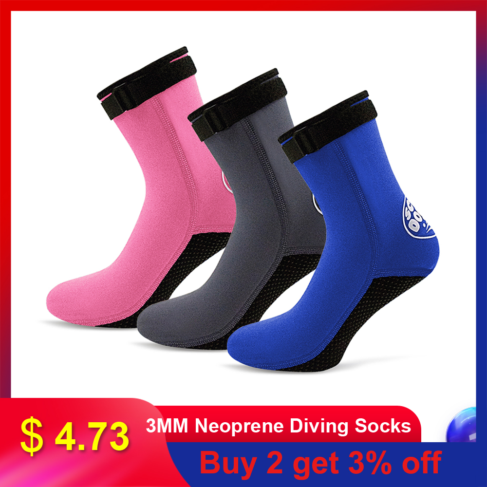 3mm Neoprene Socks Diving Swimming Beach Socks Anti-slip Snorkeling Water Shoes Surfing Boots Warm Sock Men Women Outdoor Shoes