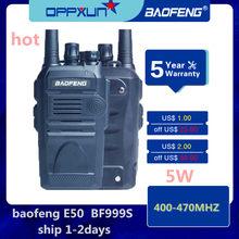 2 pces baofeng BF-999S 8w 4800mah bidirecional walkie-talkie, 10km distância de chamada cb rádio fm uhf estação de transmissão de rádio marítima