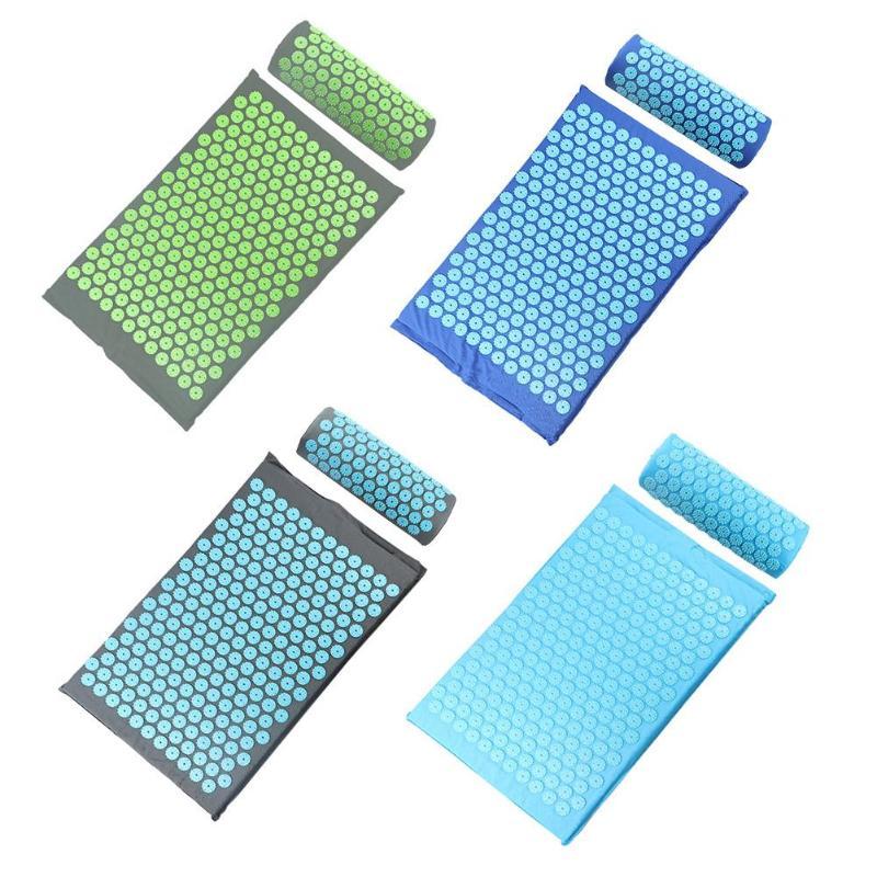 Acupressure Massager Mat Relaxation Relief Stress Tension Body With Pillow