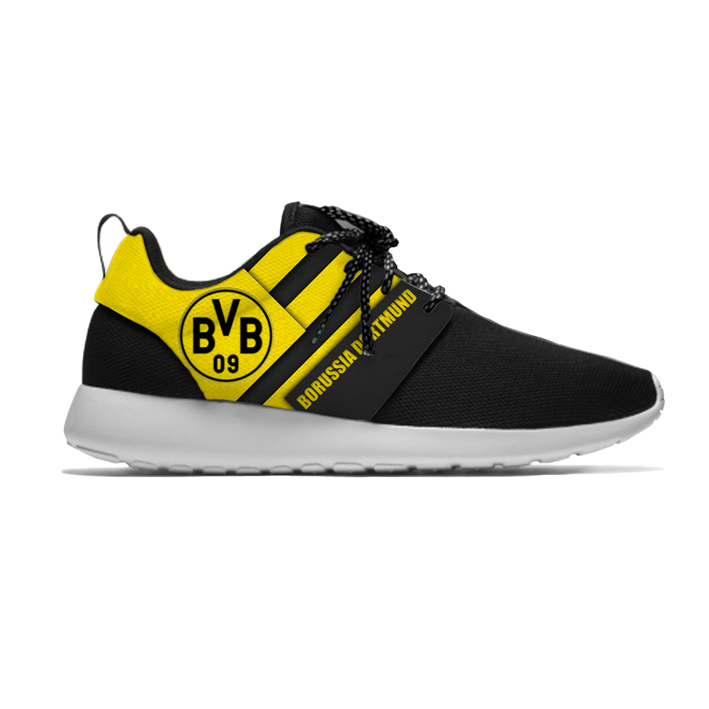 Dortmund Sport Shoes Football Club FC Fans Soccer Lightweight Borussia Breathable Casual Sneakers Men/Women Running Meshy Shoes