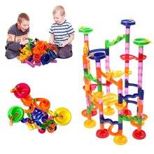 105 шт Огромный мраморный гоночный трек DIY строительные блоки лабиринт мяч рулонные игрушки Обучающие Детские игрушки подарки дропшиппинг