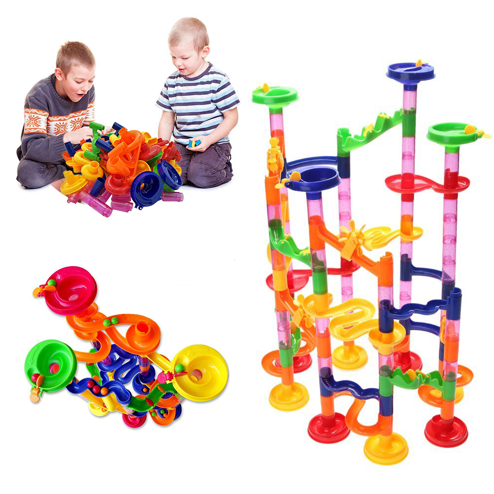 105pcs Huge Marble Race Run Track DIY Construction Building Blocks Maze Ball Roll Toys Educational Toy Kid's Gifts Dropshipping