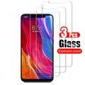3 шт. закаленное стекло для xiaomi Mi 8 lite Mi8 light, защита экрана, закаленное стекло для xiaomi 8 pro xiomi 8 lit HD, защитная пленка