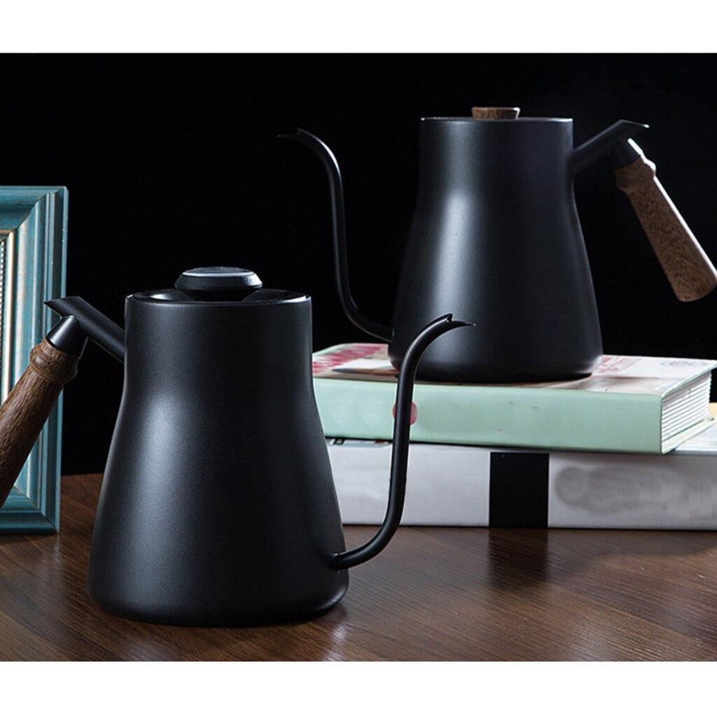 850ML Edelstahl Schwanenhals Gießen Über Kaffee Wasserkocher-Isolierte Ergonomische Griff, Bequem und Sicher Gehalten in Hand