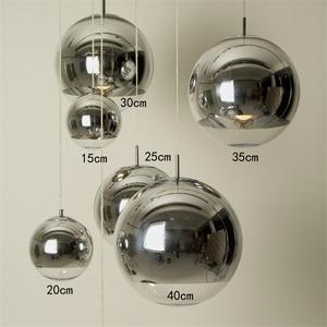 Image 3 - Vidro moderno led pingente lâmpada barra escadas (um a três luzes) restaurante led luzes pingente sala de estar lâmpada chapeamento esférico