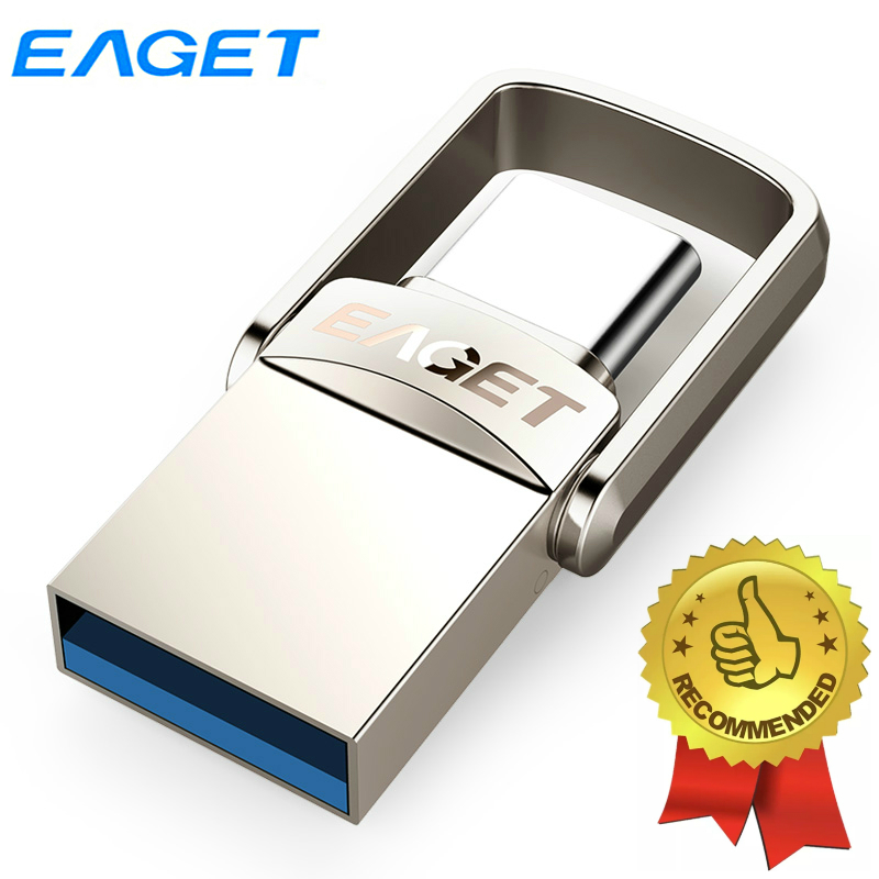 Eaget OTG USB Flash Drive Type C Pendrive 128GB 64GB 32GB Mini USB 3 1 Pen Drive For Type-C Phone Tablet Laptop Macbook Computer
