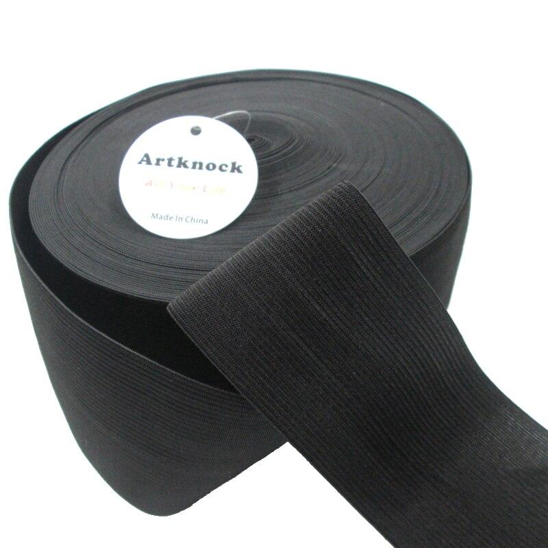 Black Premium HIGH Quality Flat Woven Elastic 4 INCH 100mm Wide 0.5 Meter