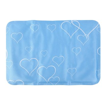 Refilling Sponge Ice Pad Pet Dog Kitty Cooling Bed Ice Pad Cushion Blue Ice Cool Pad pet soft safety Pad cooling Cat Dogs Mat image