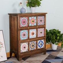 Furniture Bedside-Cabinet Bedroom Table Living-Room-Storage Solid-Wood Nordic Paulownia