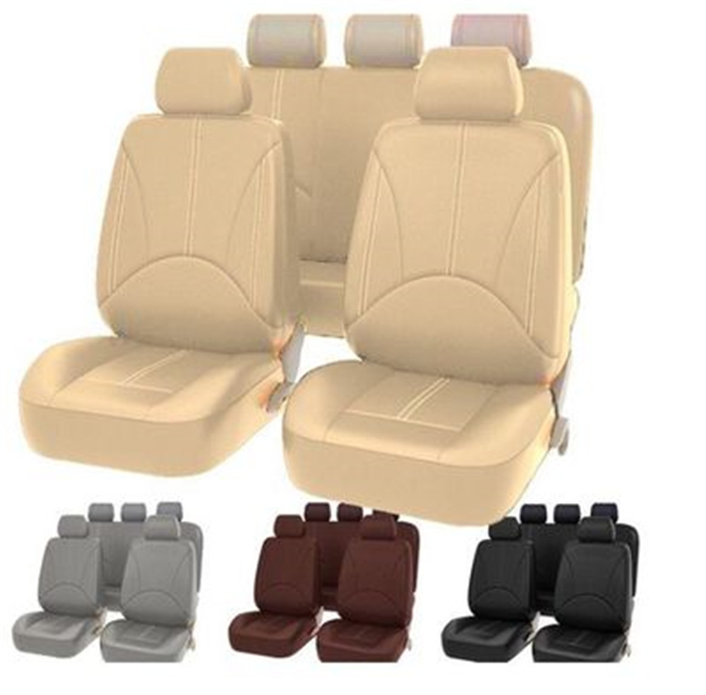 US $8.97 20% OFF|94 pcs Universal Car PU Leather Front Car Seat Covers Back Bucket Car Seat Cover Auto Interior Car Seat Protector Cover|Automobiles