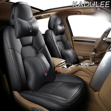 Car-Seat-Cover Jaguar Real-Leather for KADULEE XJ XF XE Custom
