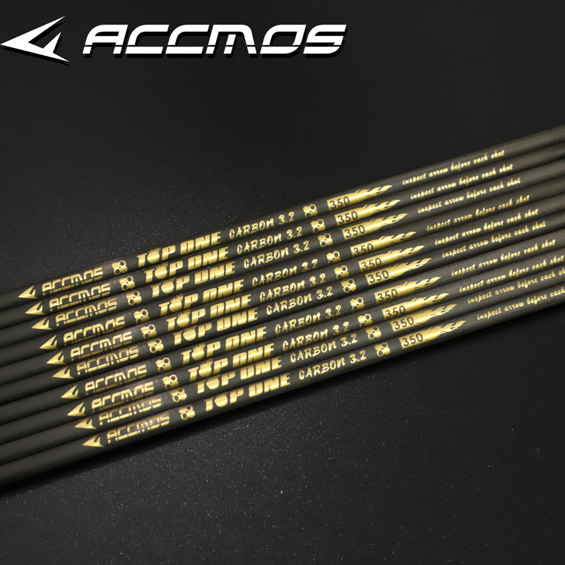 Hot 0.001 Pure Carbon Arrow Shaft ID 3.2mm Spine 350 400 450 500 550 600 650 700 750 800 850 900 1000 Archery For Bows Shooting