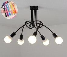 Nova personalidade moderna lâmpada criativa lustre de escritório simples lâmpada nordic ferro lâmpada quarto lâmpada do teto