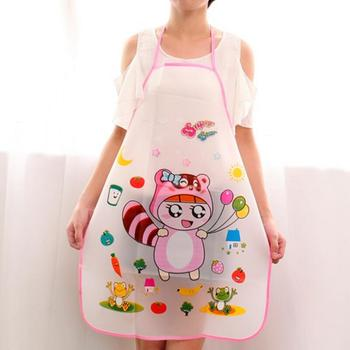 Kitchen cooking apron creative ladies kitchen apron cute cartoon apron sleeveless waterproof and oil-proof apron 1