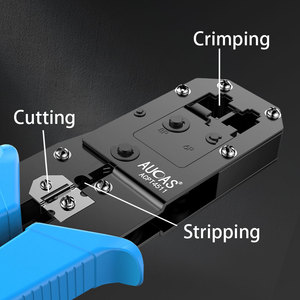 Image 5 - AUCAS Rj45 Crimper Tool Crimping Cable Networking Wire Ratchet Pliers Lan Kit RJ12 Tools   Punch Mikrotik Krimptang Equipment