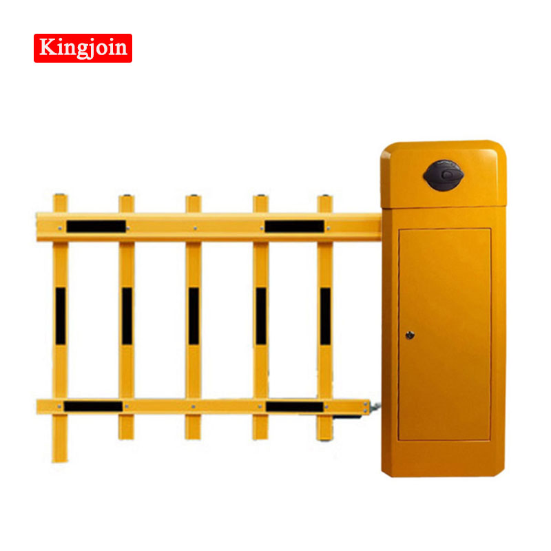 KINGJOIN Barrier Gate Arm Double-layer Yellow Boom Car Barrier Gate Barrier / Collision-proof Intelligent Barrier Gate