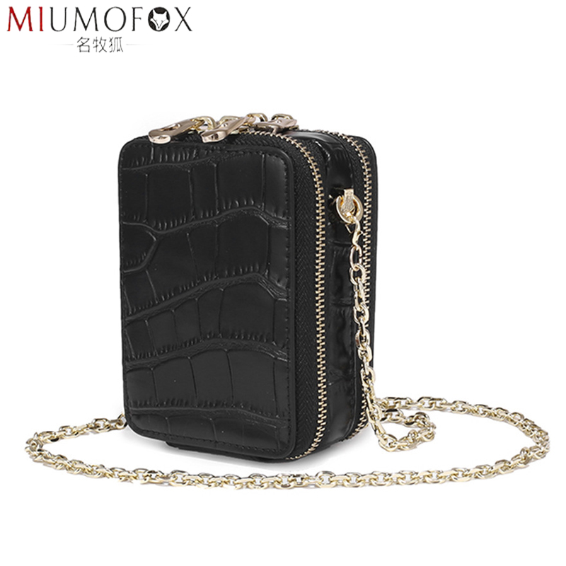 Lipstick Bag Women Small Bags Cross-body Mini Chain Shoulder Bag For Women Genuine Leather Coin Purse Makeup Case With Mirror