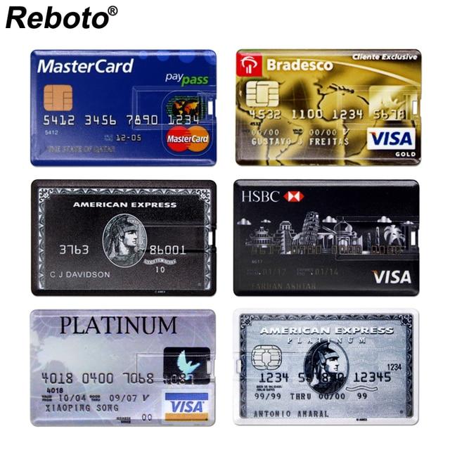 USB Flash Drive High Speed Bank Credit Card USB Flash Pen Drive 4GB 8GB 16GB Pendrive 32GB 64GB USB флэшка Memory Disk USB Stick 6