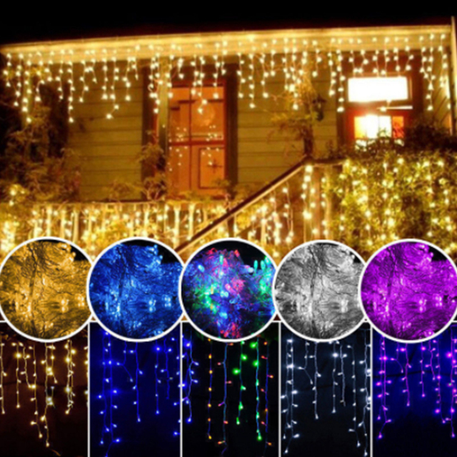 3-30M Festoon Christmas Curtain Icicle LED String Light Indoor Outdoor Party New Year Garland Fairy Decoration Light for Home 1