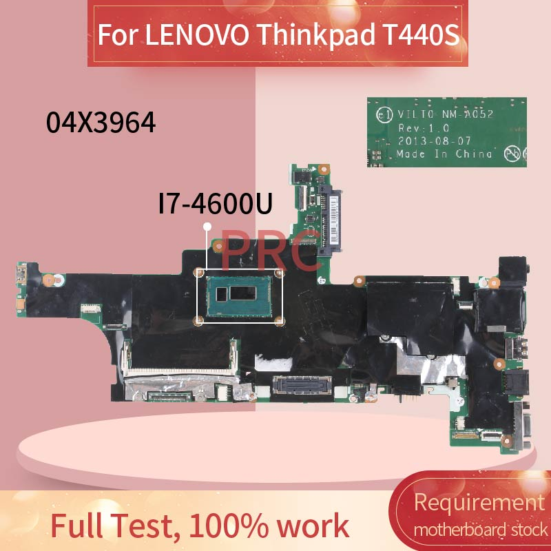 04X3964 04X3962 For LENOVO Thinkpad T440S I7 4600U Laptop motherboard VILT0 NM A502 SR1EA DDR3 Notebook